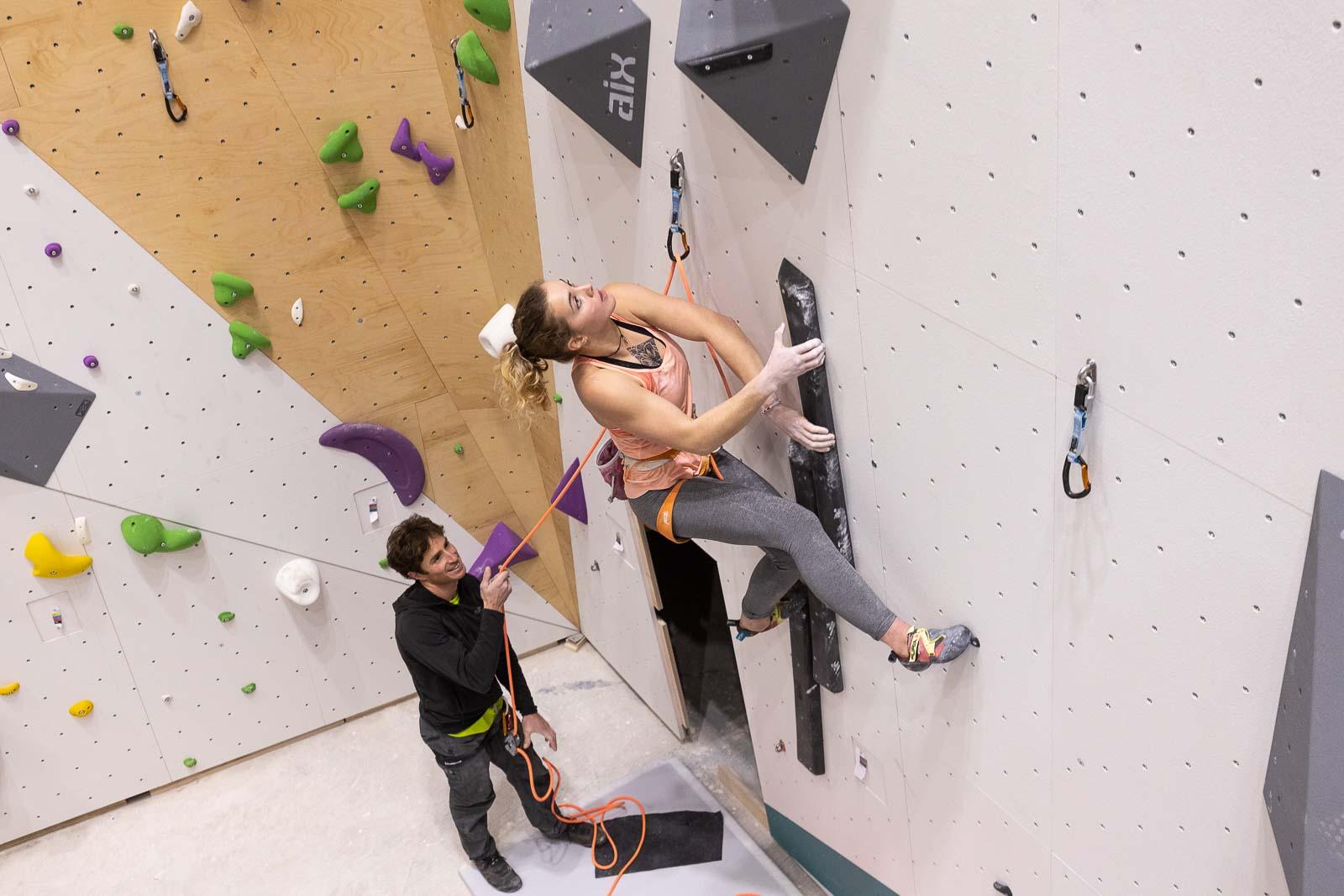 Voies d'escalade à Climb Up Lille centre