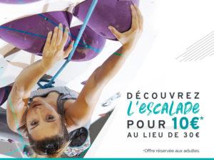 Offre cours découverte escalade à 10€ à Climb Up Lille Centre